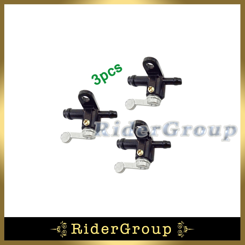 3pcs Gas Petrol Fuel Tap Tank Petcock Switch For 50 70 90 110 125 140 150 200 250 cc ATV Quad 4 Wheeler PW50 Y-ZINGER PY50(China (Mainland))