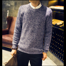 Mens Sweater Brand New Autumn Fashion Casual Mens Sweaters And Pullovers Round Neck Slim Korean Long-Sleeved Knitted Sweater Men(China (Mainland))