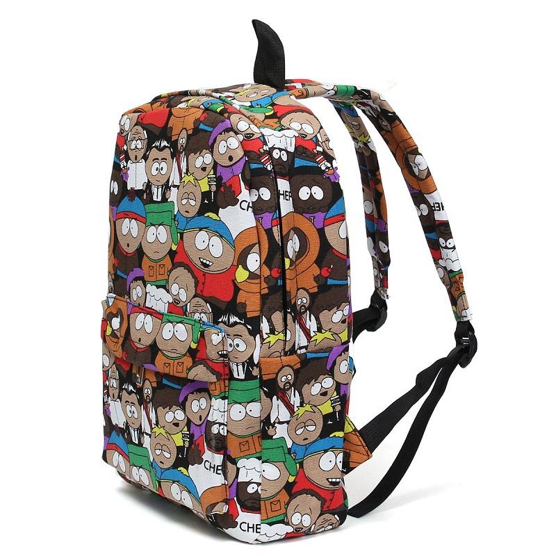 Fashion Canvas Graffiti Cartoon Backpack Printing Women Student Travel Leisure Laptop School Bags Pack Large Capacity Mochila(China (Mainland))
