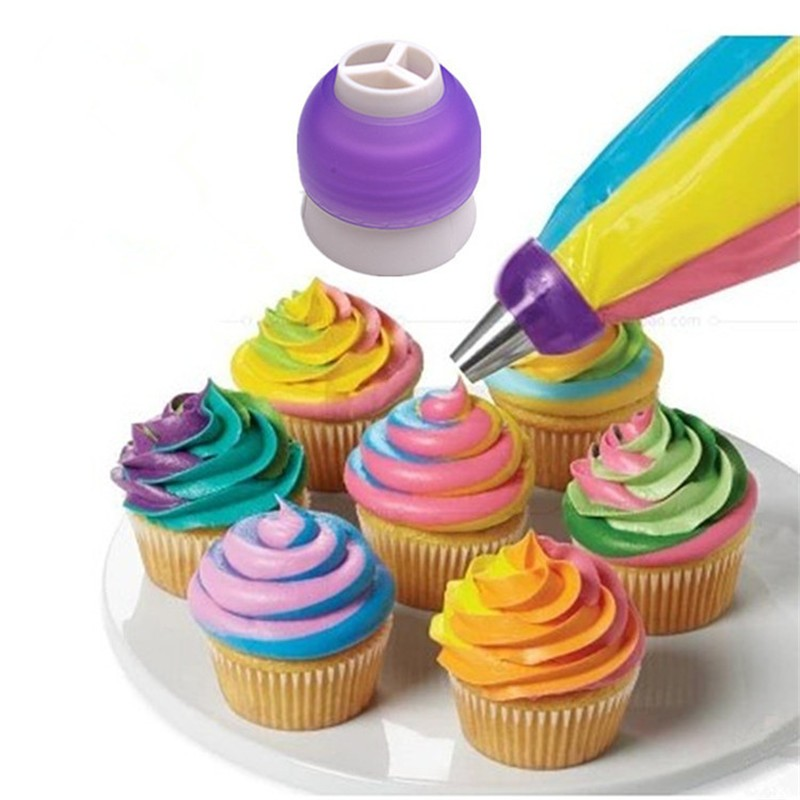 Icing-Piping-Bag-Nozzle-Converter-Tri-color-Cream-Coupler-Cake-Decorating-Tools-For-Cupcake-Fondant-Cookie