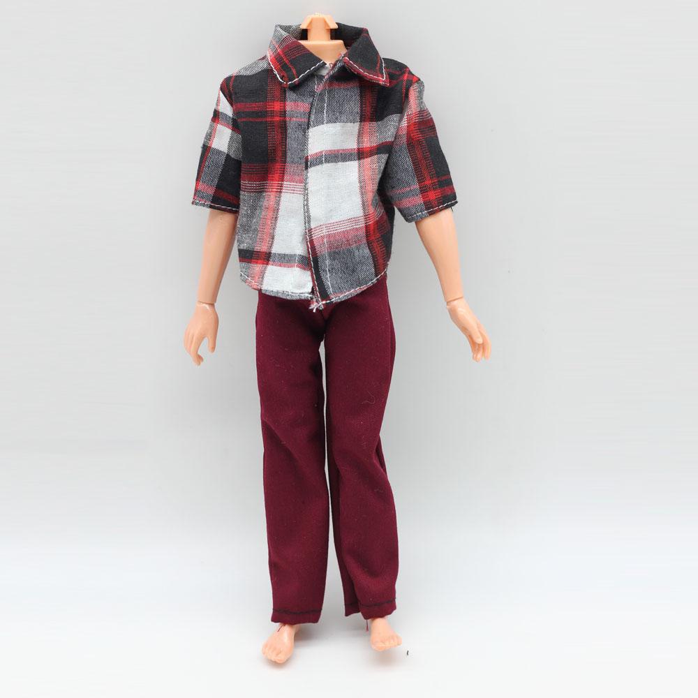 1pcs Fashion Casual Clothes Shirt + Trousers For Barbie Boyfriend Ken Dolls S(China (Mainland))