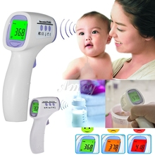 Digital termometer thermometer ear new baby/adult digital multi-function non-contact infrared forehead body thermometer 6324(China (Mainland))