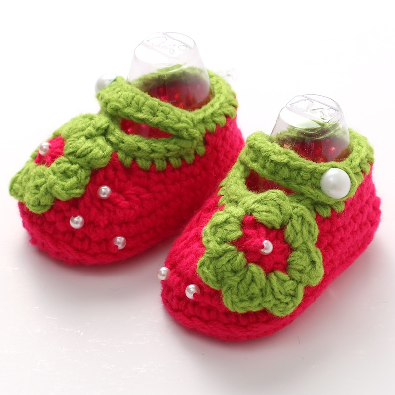 Handmade Knitting Soft Baby Shoes Crochet Slippers Zapatos Bebe;Newborn Photo Props 3D Flower Baby Girl Shoes Toddler Crib Shoes(China (Mainland))
