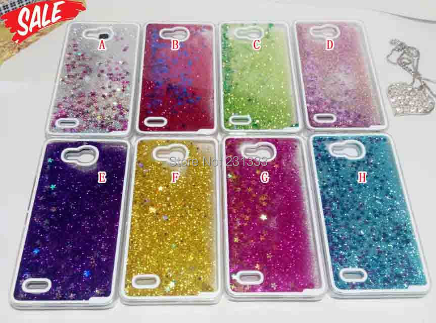 Dynamic Liquid Quicksand Glitter Star Bling Flowing Transparent Hard Case For Huawei Ascend Mate 7 P7 Honor 3X Back Cover 100pcs