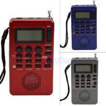 Free Shipping Portable Digital FM Radio Pocket Full Band Receiver LCD Display MP3 REC Player