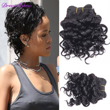 Kinky Curly Brazilian Human hair 7A Unprocessed Kinky Curly Virgin hair Weaves 6pcs 210g Set for Full Head Hair Extensions #1b
