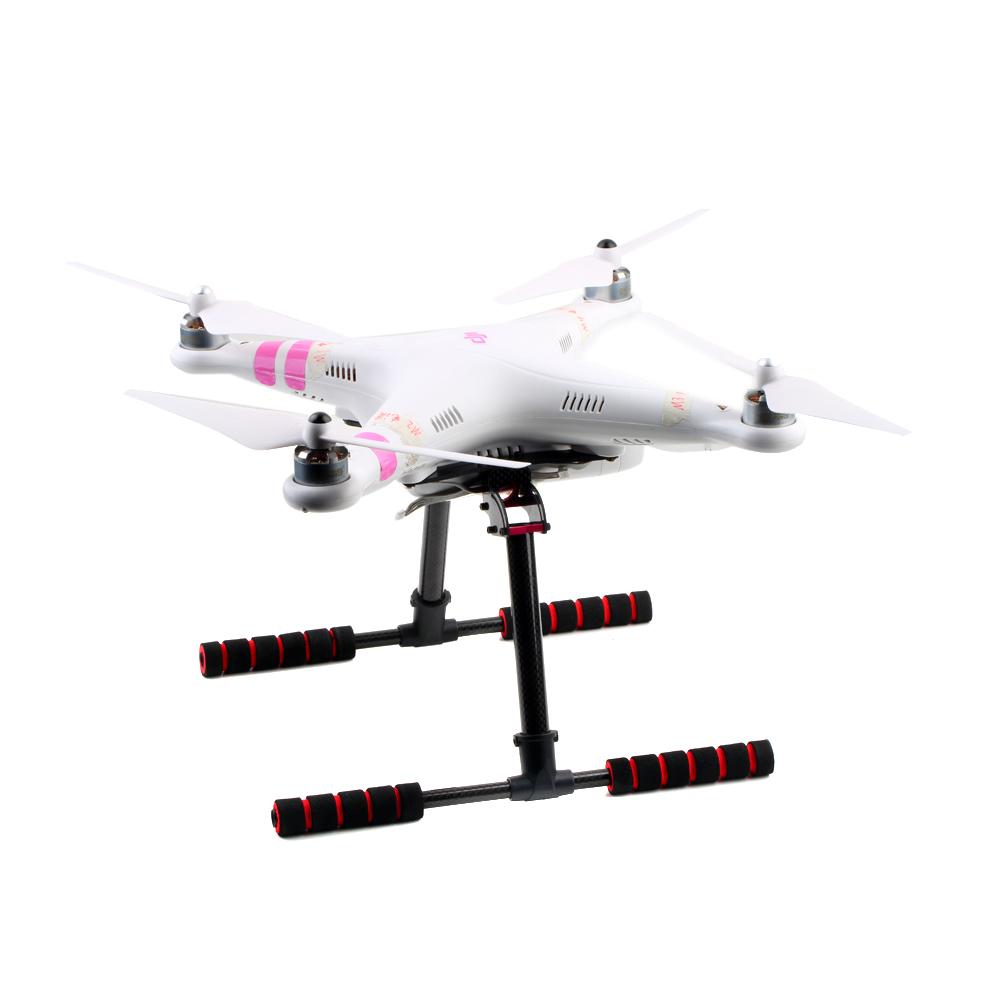 Upgrade Carbon Fiber Tall Landing Skid Gear Kit for DJI Phantom 1 2 Vision FPV RC Quadcopter Part(China (Mainland))