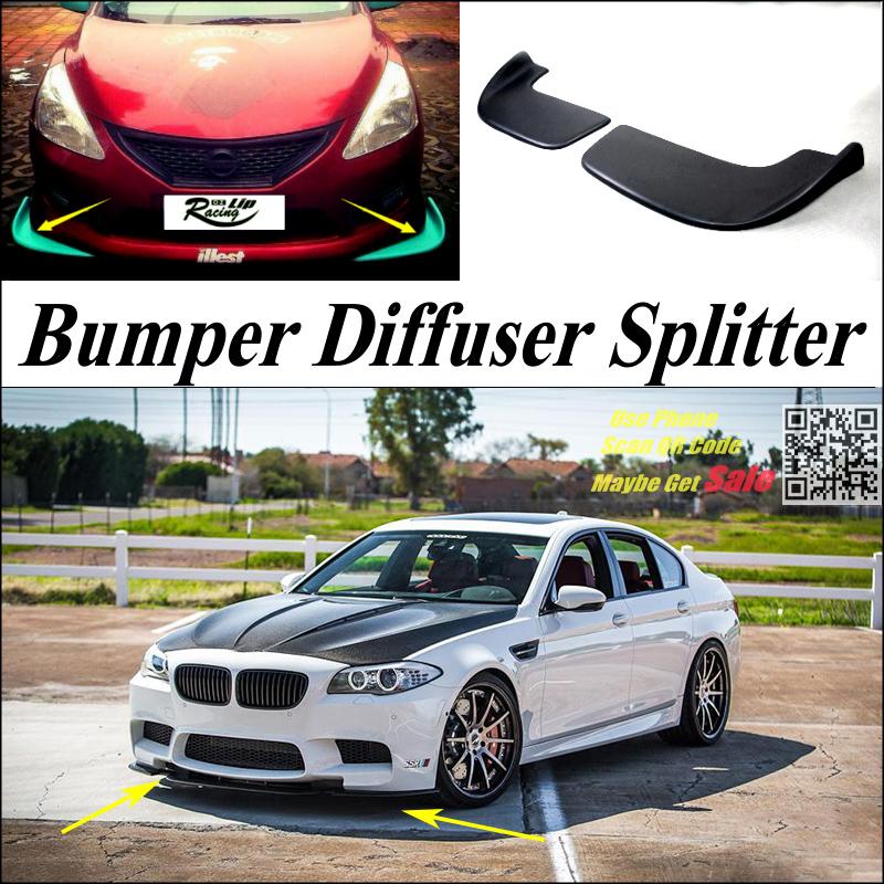 Здесь можно купить  Car Splitter Diffuser Bumper Canard Lip ForBMW 5 M5 E28 E34 E39 E60 E61 Tuning Body Kit  / Deflector Car Fin Chin Reduce Body  Автомобили и Мотоциклы