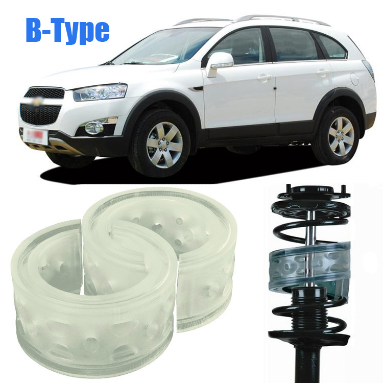 High Quality 2pcs B-Type Transparent Front Shock Absorber Coil Spring Cushion Buffer For Chevrolet Captiva<br><br>Aliexpress