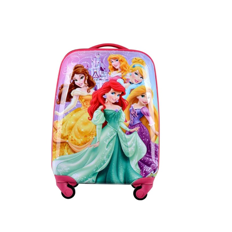 17 inch 33cmx23cmx41cm abs plastic princess barbie pattern trolley 4 wheels travel luggage or suicase for kids or children(China (Mainland))