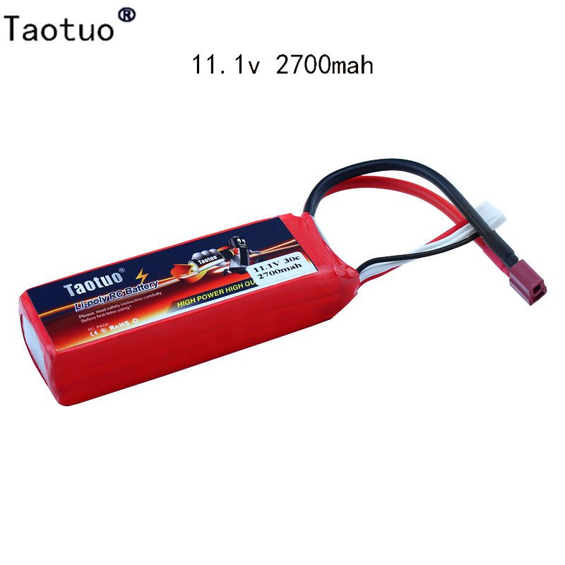 Taotuo Lipo Battery 11.1V 2700mAh 30C For Feilun FT012 RC Boat Speedboat Helicopter Quadcopter Airplane Car Li-poly Bateria Lipo(China (Mainland))