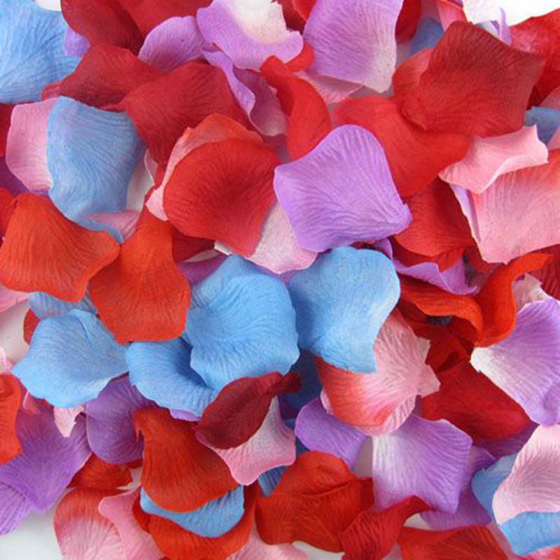 Silk Flower Rose Petals Artificial Flowers 100PCS/LOT Decoration Decorative Flowers and Wreaths Wedding Decor 1zSH012-1(China (Mainland))