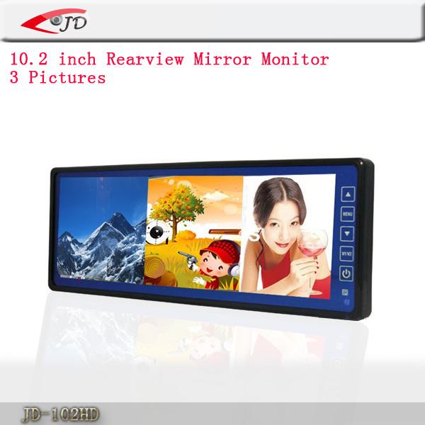 10.2 Inch Rearview Mirror LCD Three Screen Liquid Crystal Display LCD Display Displays Car Monitor(China (Mainland))