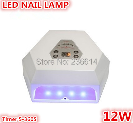 12W Led UV Curing Lamp Nail Gel Polisher Fast Dryer manicure care Tool Pro Fashion Salon Nail Lamp(China (Mainland))