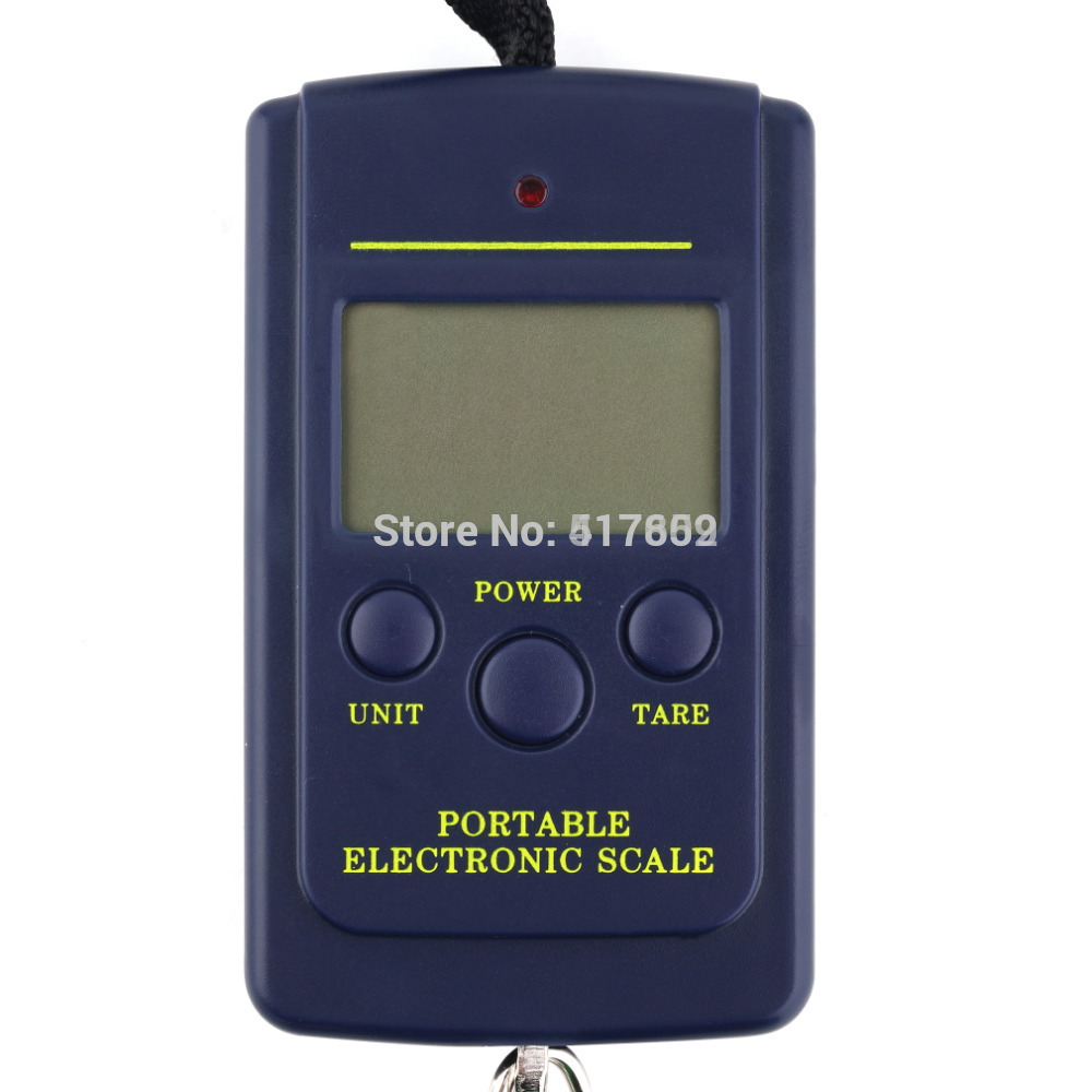 1 Pc Pocket Electronic Digital Scale 40kg x 10g Hanging Luggage Weight Balance Steelyard Black