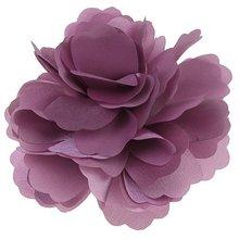 Tiempo de las compras! mujeres niñas Satin Peony pelo de la flor broche – Dark Pink