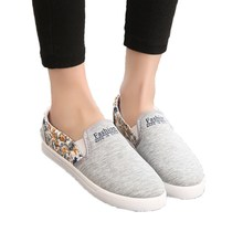 Big Sale Women Flats Shoes New Female Spring&Autumn Slip On Canvas Fashion Floral Print Low Loafers Non-Slip Shoe(China (Mainland))