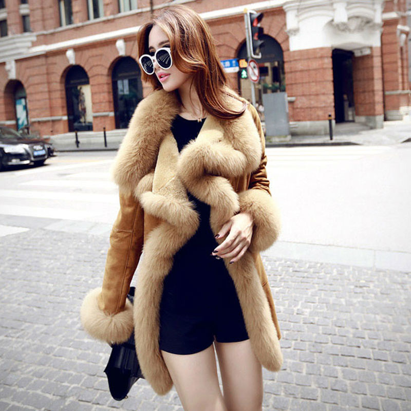 New Woman Double-faced Fur Wool Fur Outdoor Long Coat Plus XXLОдежда и ак�е��уары<br><br><br>Aliexpress