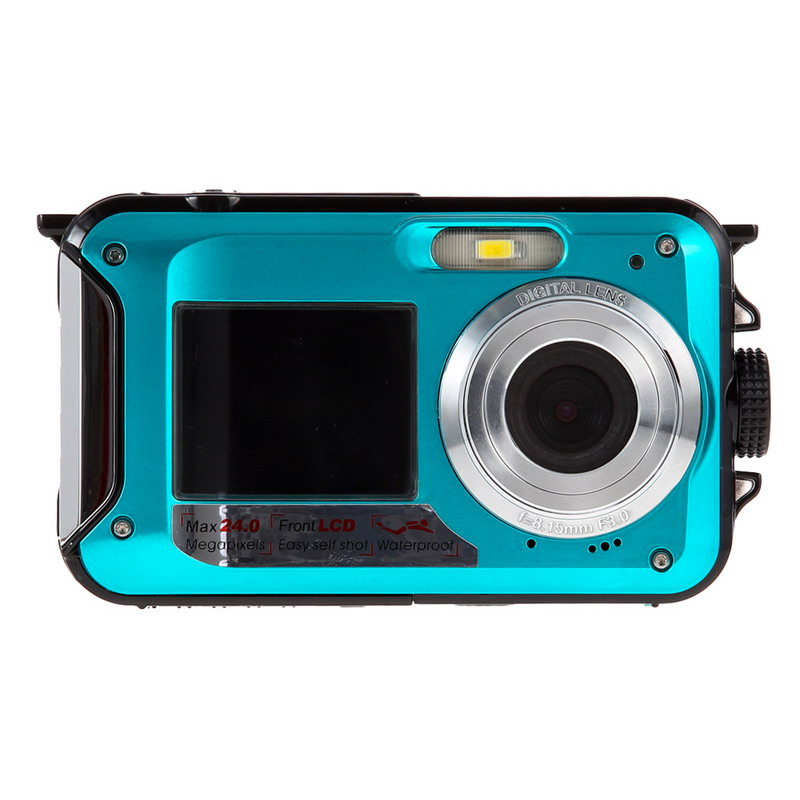New Duble Screen HD 24MP Camera Top Quality Waterproof Digital Video Camera 1080P DV 16x Digital Zoom Sport photograph OD#S(China (Mainland))