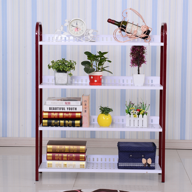 Quality paint pastoral fashion multilayer metal shoe rack three four-story high living room shelf assembly(China (Mainland))
