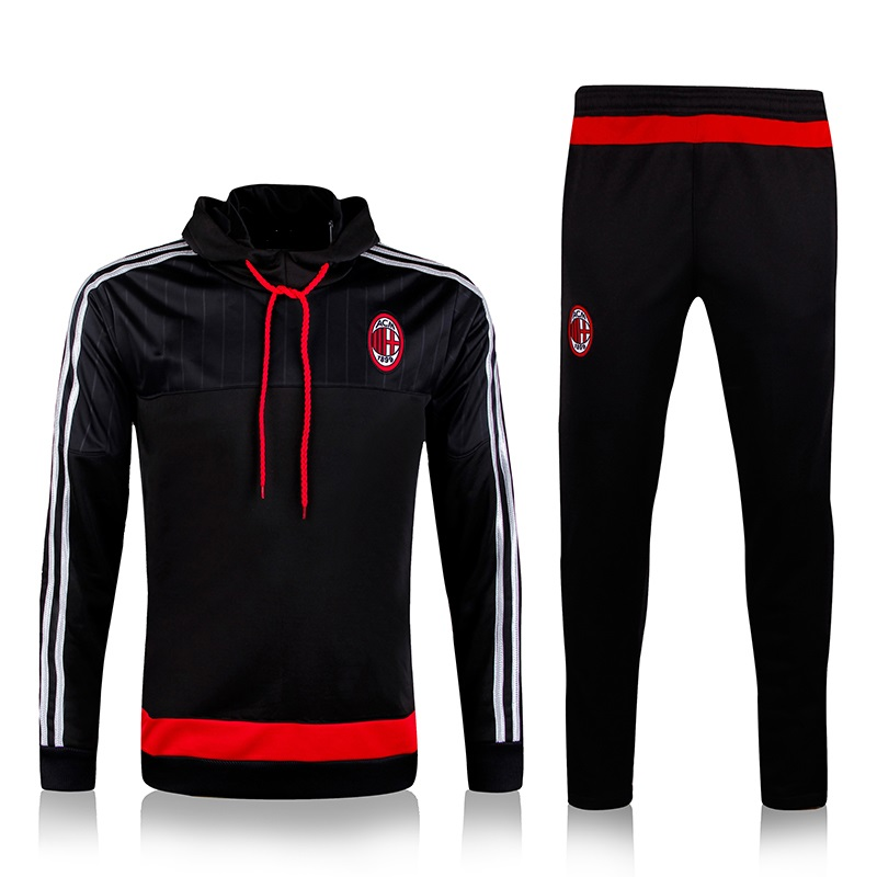 survetement football AC Milan training chandal with hat 2016 soccer Champions League tracksuit jacket pants<br><br>Aliexpress