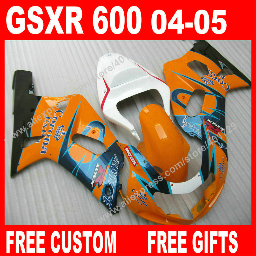 Hot sale Fairings for popular colorful bodywork 2004 2005 SUZUKI GSXR 600 750 gsxr600 parts 04 05 fairing kits 7 gift TB05(China (Mainland))