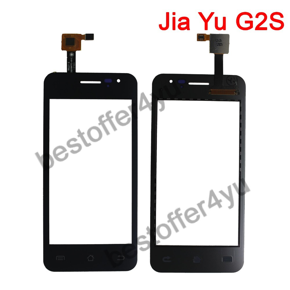 BLACK 100% original JY G2S jiayu G2S Touch Screen Digitizer Replacement For JIAYU G2S Touch Pane mobile phones + TRACKING code(China (Mainland))