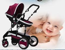 pk604/Billion-Levin / high landscape / stroller / summer sit sleeper / earthquake avoid reversing four folding baby baby(China (Mainland))