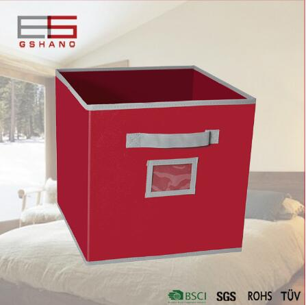 1 Pc Clothing Toy Organizer with Handle Storage Boxes Cube Fabric Container Dustproof Make up Storage Free Shipping(China (Mainland))