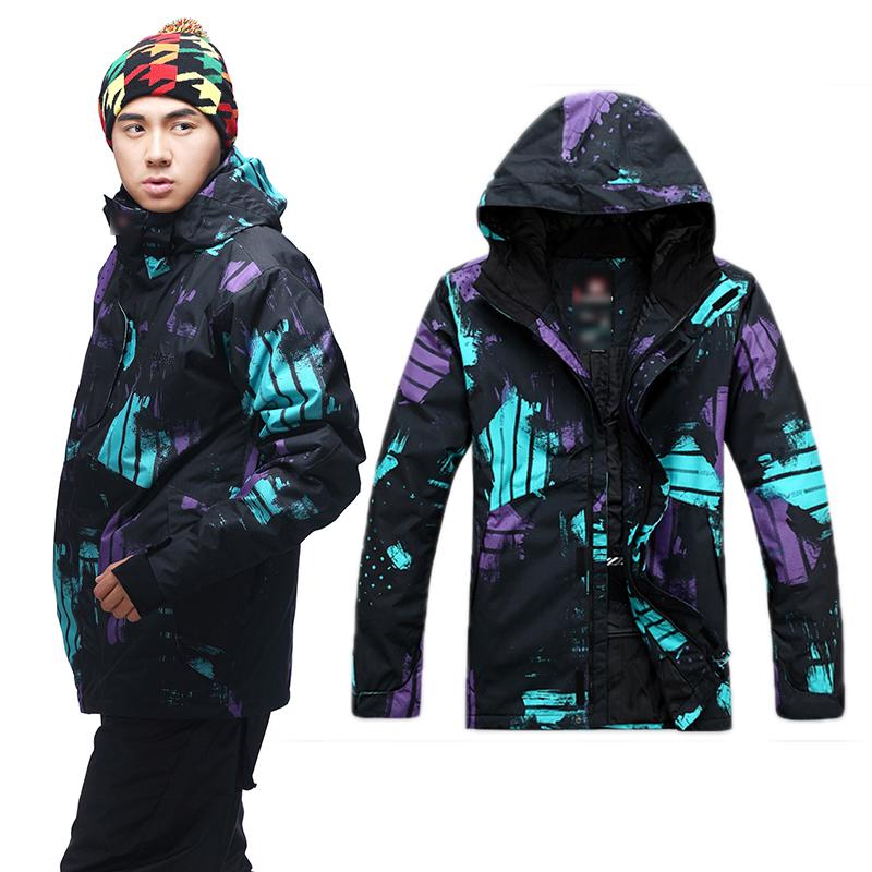 famous brand 2015 men snow jackets male waterproof ski jacket super warm windstopper skiing coats mens snowboarding overcoat(China (Mainland))
