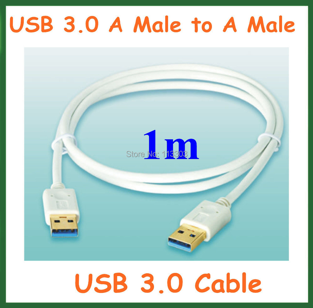 20pcs USB 3.0 Extension Cable 1m USB 3.0 A Type Male to Male Extender Cable White Color 28+32AWG OD 4.0mm Data Cable(China (Mainland))