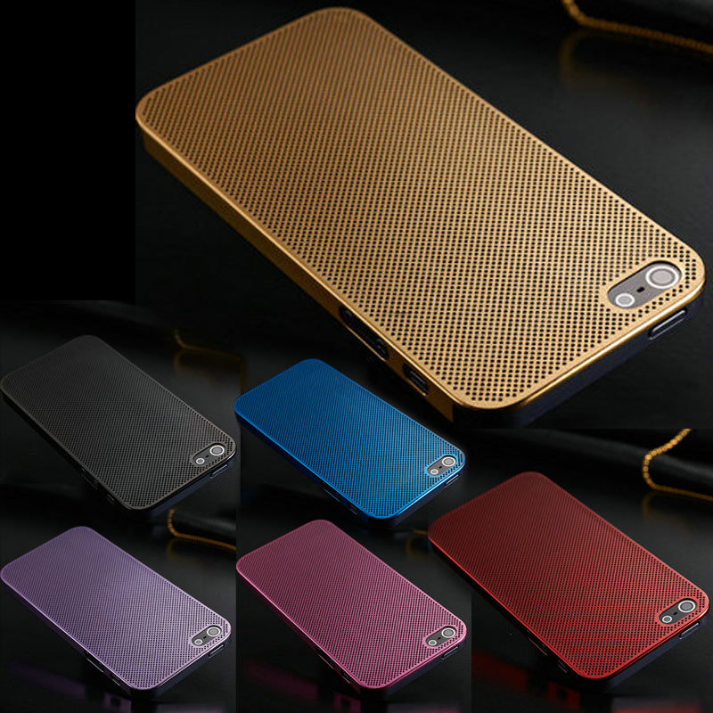 0.33MM Ultra Thin Luxury Aluminum Case For iPhone 5 5S 5G Mesh Metal Hard Back Cover For iPhone 5/5S/5G Phone Capa Coque(China (Mainland))