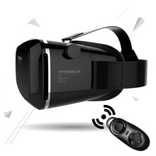100% original VR SHINECON Virtual Reality 3D Glasses Helmet VR BOX Headset For Smartphone 3.5 inch ~ 6 inch with Retail Package(China (Mainland))