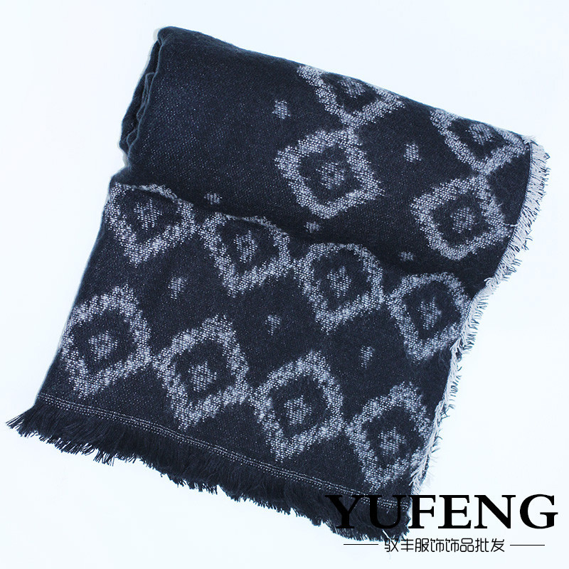 New Arrival Brand Winter Thick Geometric Pattern Pashmina For Women Fashion Easy Matching Solid Wrap Shawl Hotsale Accessory(China (Mainland))