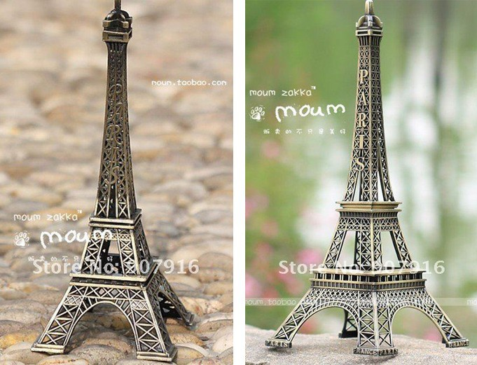 high 48cm metal craft arts 3D Eiffel Tower model French france souvenir paris home decoration gift desk office