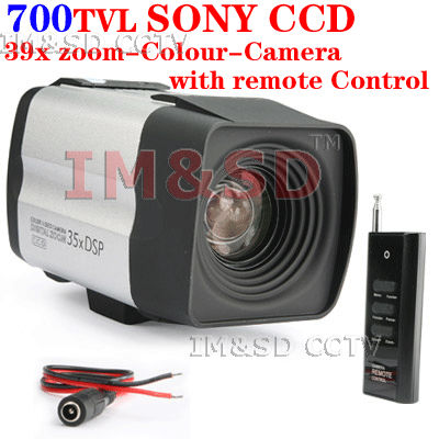 Гаджет  zoom-Colour-Camera SONY effio-e CCD 700TVL 39x Optical Auto Focus Zoom BOX Camera with Remote Colour-Camera with remote Control None Безопасность и защита