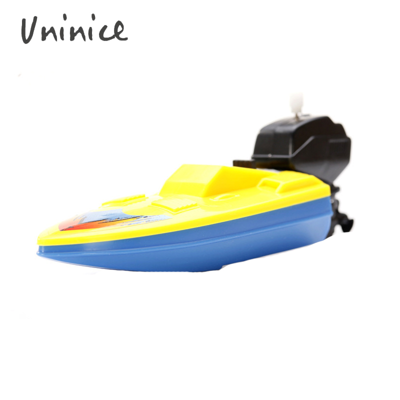 boat kids toy summer outdoor pool toy Wind Up playing in the water swimming motorboat boat toy wholesale Birthday gift 3pcs/lot(China (Mainland))