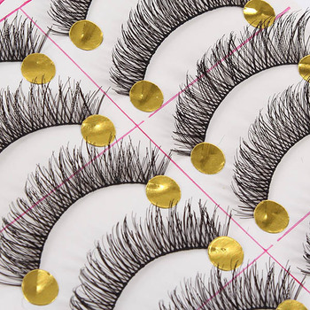 10 Pairs Black Natural Long Thick False Eyelashes Fake Eye Lashes Makeup TipsFree&Drop Shipping