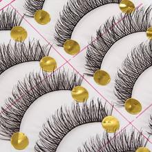 10 Pairs Black Natural Long Thick False Eyelashes Fake Eye Lashes Makeup Tips(China (Mainland))