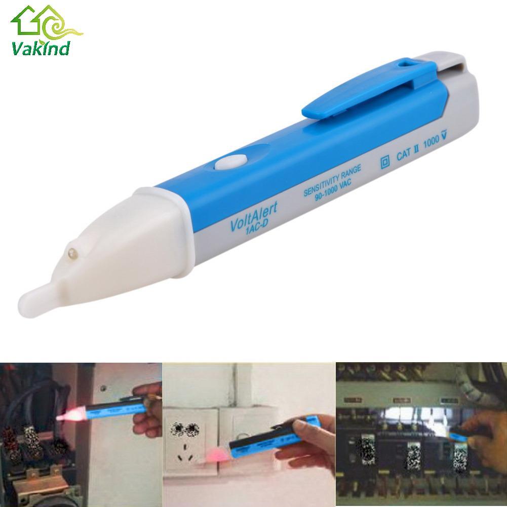 Socket Wall AC Power Outlet Voltage Detector Sensor Tester Electric Test Pen LED Light Voltage Indicator 90-1000V(China (Mainland))