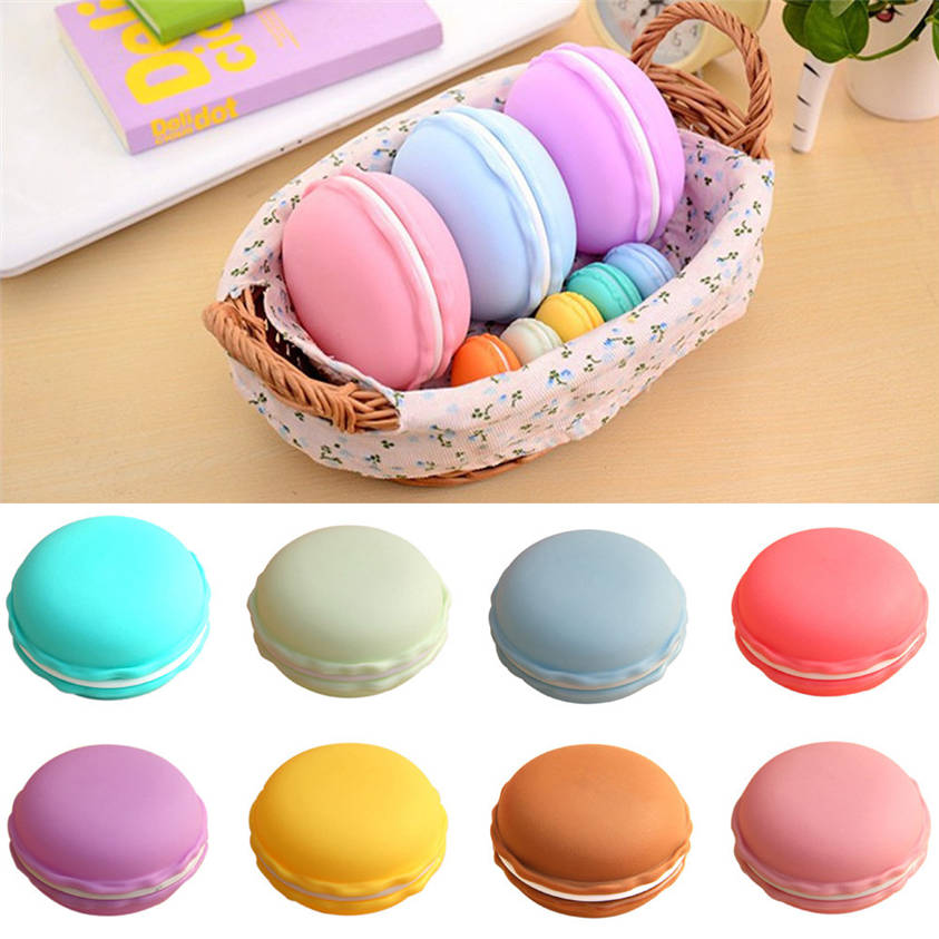 HOT SALE !Factory Price Free Shipping 1pc Earphone SD Card Delicious Macarons Bag Big Storage Box Case Carrying Pouch Mar26(China (Mainland))