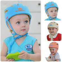 2016 Baby Toddler Safety Helmet Headguard Cap Adjustable Hat No Bumps Kids Walk Learning Helmets Protective Hat Gear Cap XT(China (Mainland))