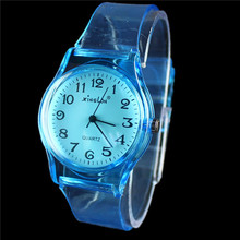 2015 New XINSLON Fashion Casual Watches Transparent Band Style Clock Hours Famous Brand Women s Quartz