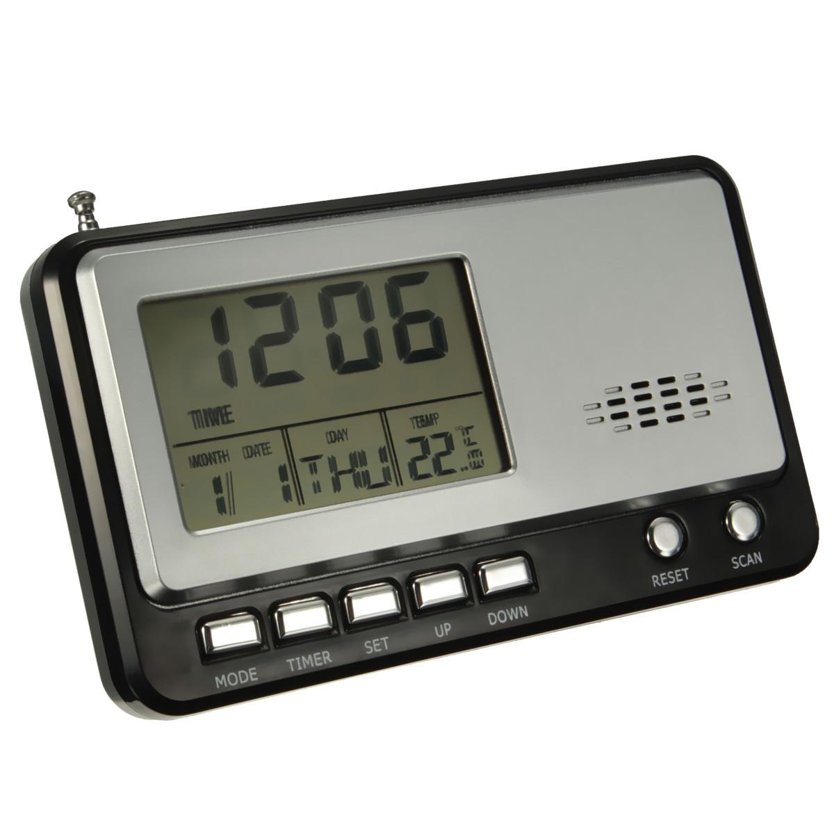 Portable Multi-Functional LCD Display Digital Calendar Clock FM Radio Loudspeaker universal Alarm Temperature Measurement Timer(China (Mainland))