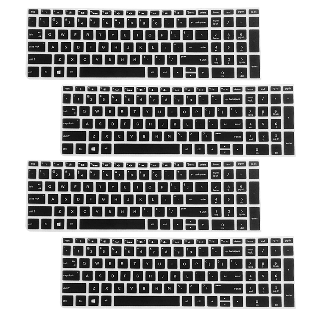 4Pcs High invisible Keyboard Protector Skin Cover For HP 15.6'' BF Laptop