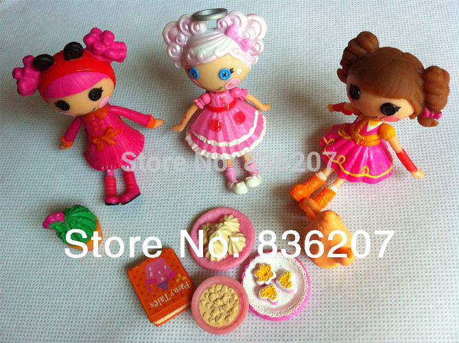 5PCS/LOT MGA Lalaloopsy Mini Dolls with 3-4 pets(accessories) 3inch For Girl's Toy PlayHouse Each Unique(China (Mainland))