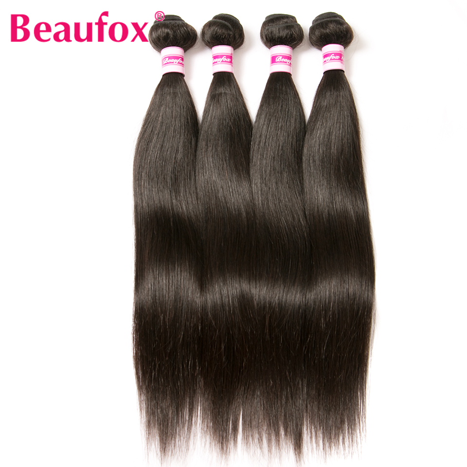Beaufox Indian Straight Hair Bundles 100% Human Hair Weave Natural Black Color 8''-28'' Can Buy 3 or 4 Bundles Non-remy Hair(China (Mainland))