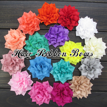 20pcs/lot 3″Poinsettia Fabric Flowers Winter Flower Decoration For Baby Girls/Toddlers Headband 20 Colors