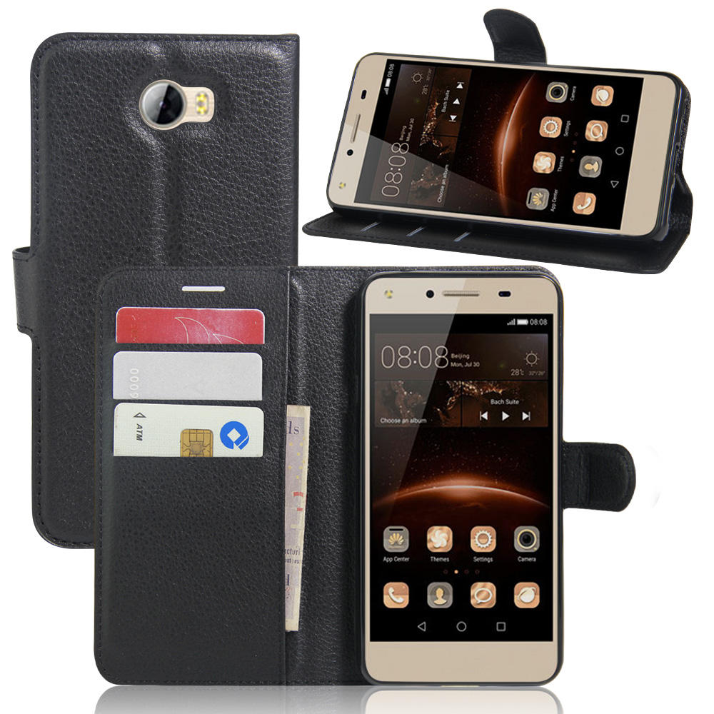 Case for Huawei Y6 II COMPACT Flip Wallet Cover with Credit Card Slot ...