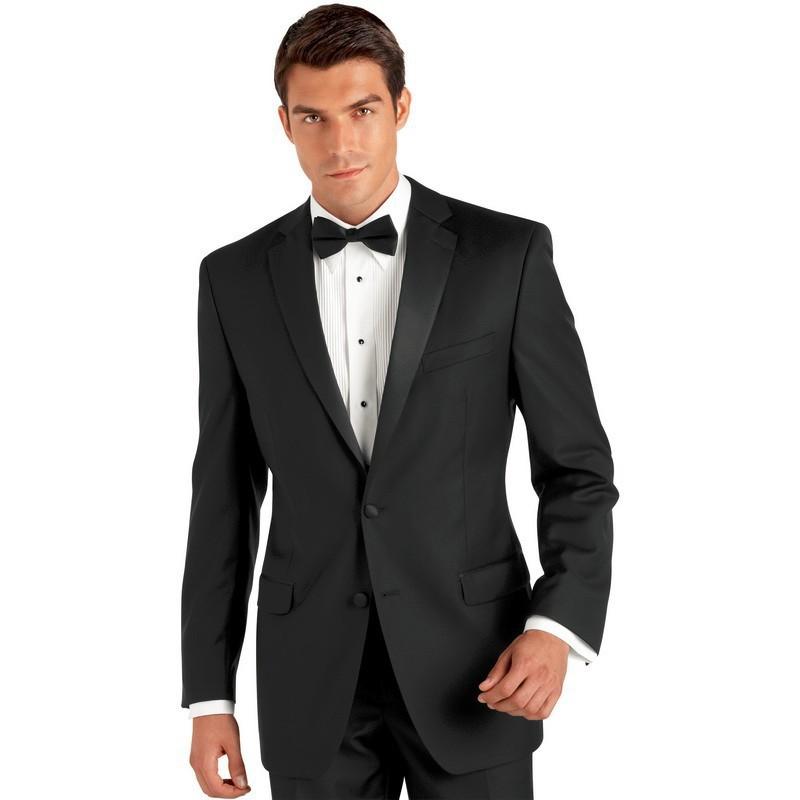 Bespoke Costume Homme Mariage Tuxedo Black Wedding Suits Groom Tuxedos Gangster Jacket Vestido